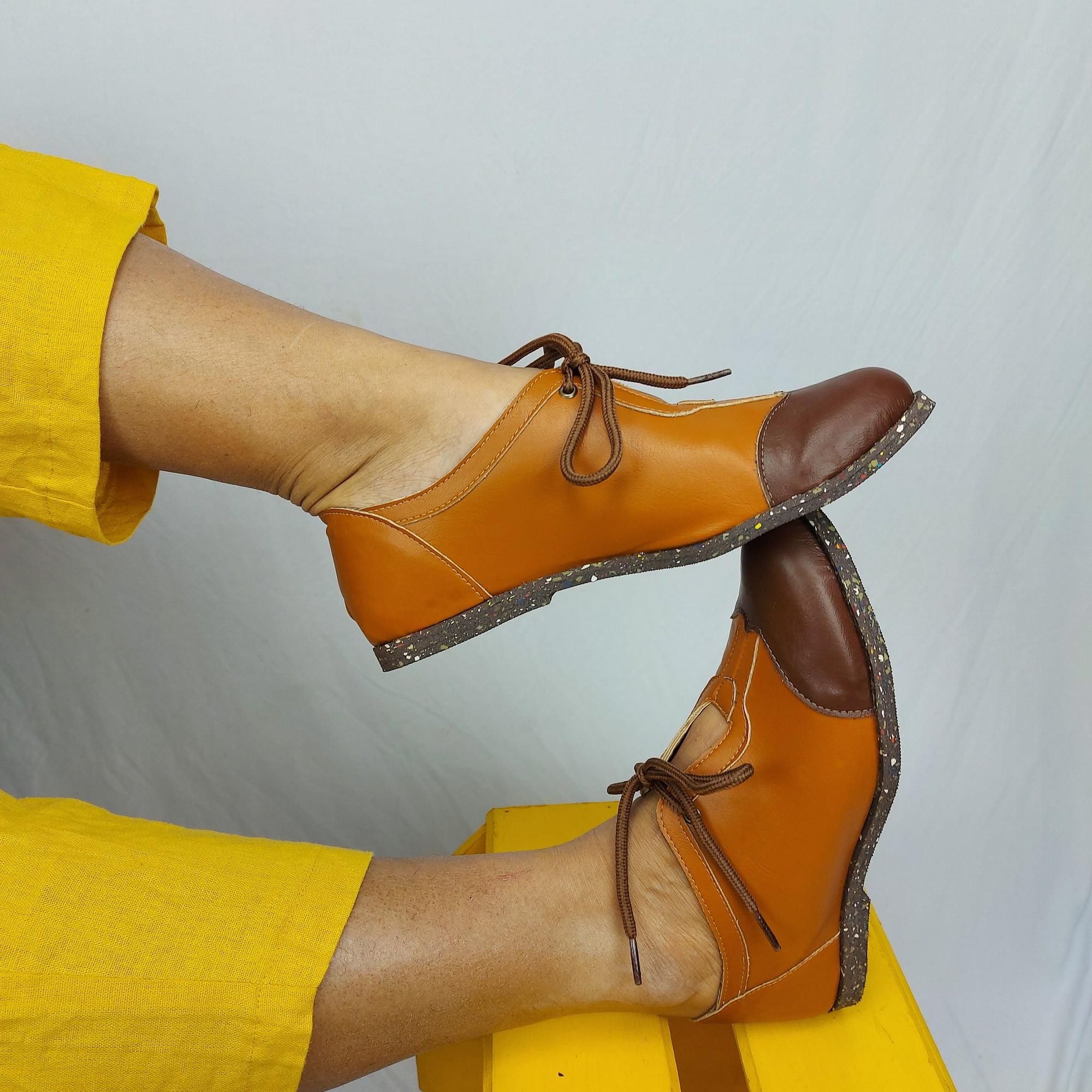 Sapato vegano- oxford mandacaru - cenoura